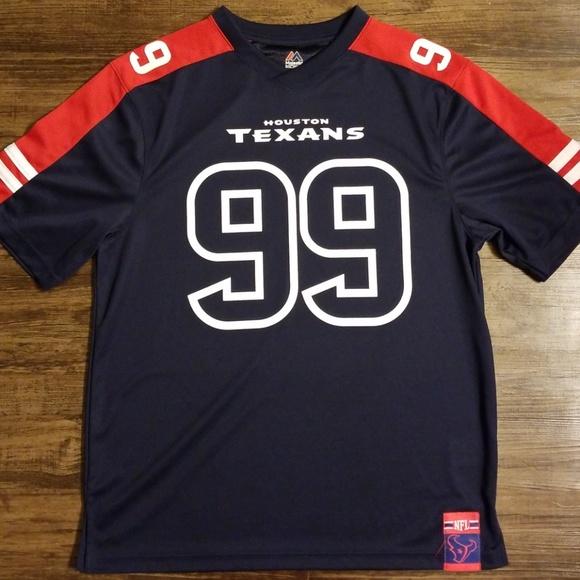 online store 4988c b8bdb New Majestic NFL Houston Texans #99 JJ Watt Jersey